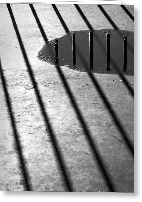 Stripes And Reflections 2 Greeting Card by Arkady Kunysz