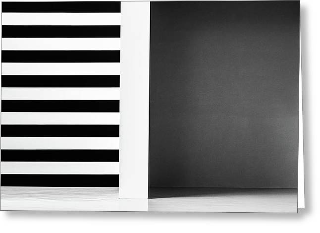 Stripes And Shadows Greeting Card by Inge Schuster