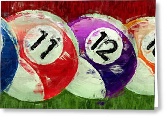 Stripes Billiards Abstract Greeting Card by David G Paul