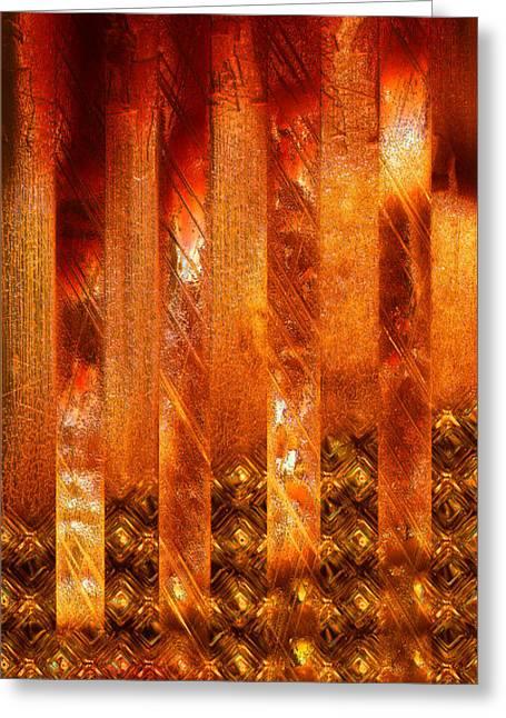 Stripes Forming Greeting Card by Li   van Saathoff