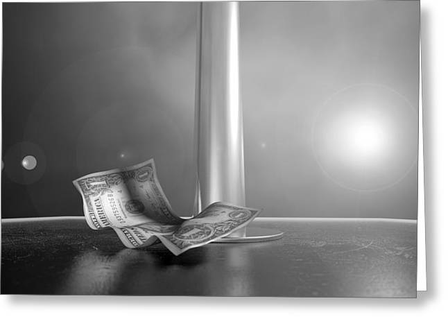 Strippers Recession Greeting Card by Allan Swart