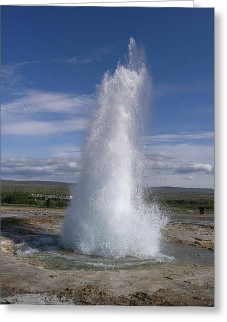 Strokkur Greeting Card by Christian Zesewitz