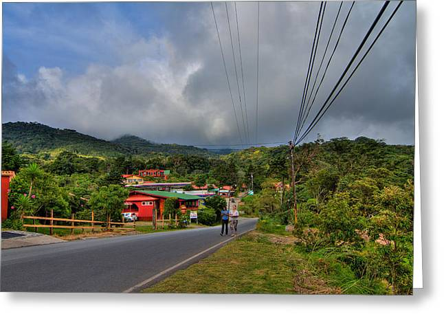 Strolling Around Monteverde In Costa Rica Greeting Card by Andres Leon