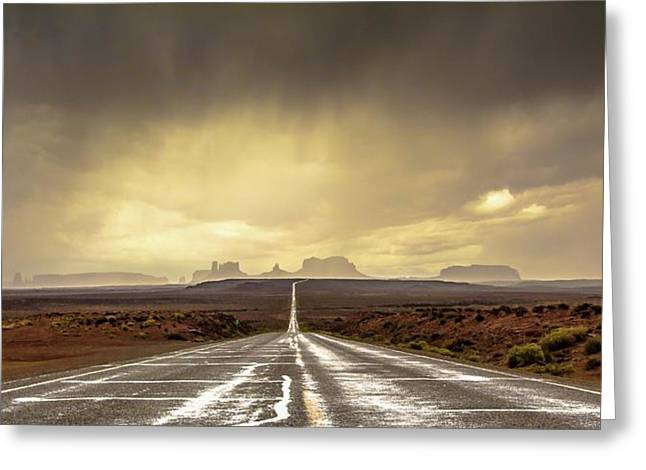 Strom In Monument Valley Greeting Card