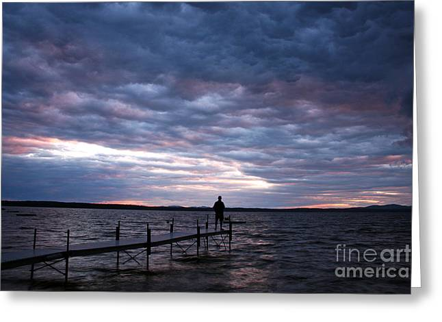 Strom Watch Sebago Lake Greeting Card