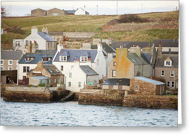Stromness Town And Harbour  Greeting Card