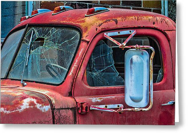 Greeting Card featuring the photograph Strong City Red by Steven Bateson