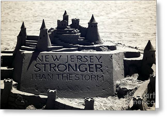 Stronger Than The Storm Greeting Card by John Rizzuto