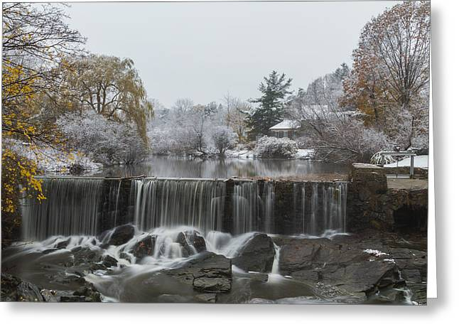 Stroudwater Falls Portland Maine Greeting Card