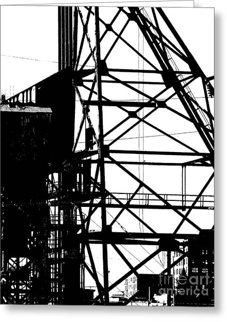 Structure 3 Greeting Card by Newel Hunter