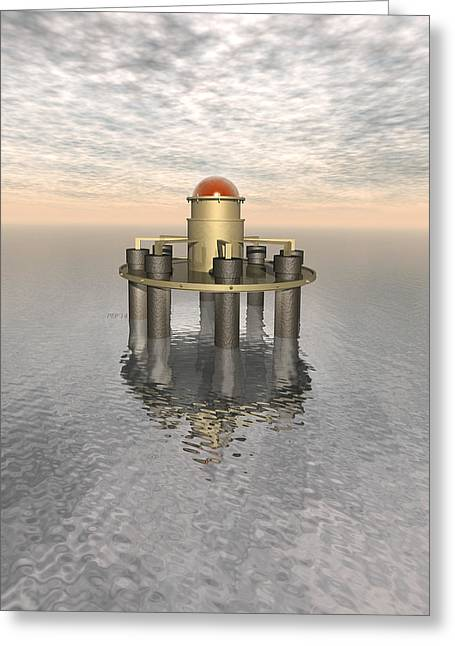 Structure At Sea Greeting Card