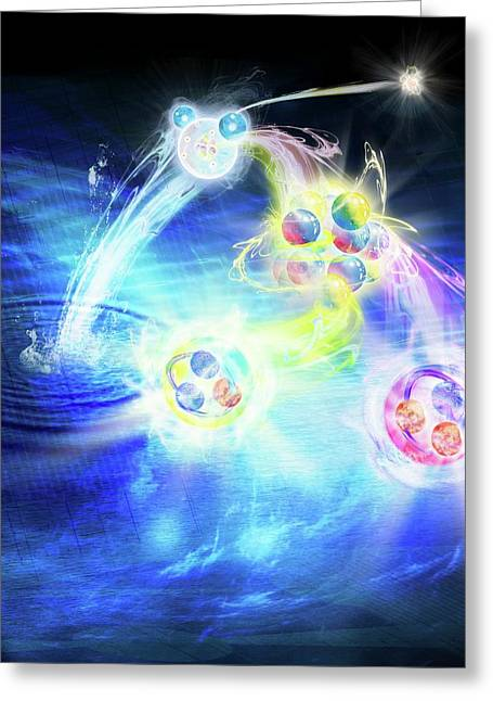 Structure Of Matter Greeting Card by Harald Ritsch
