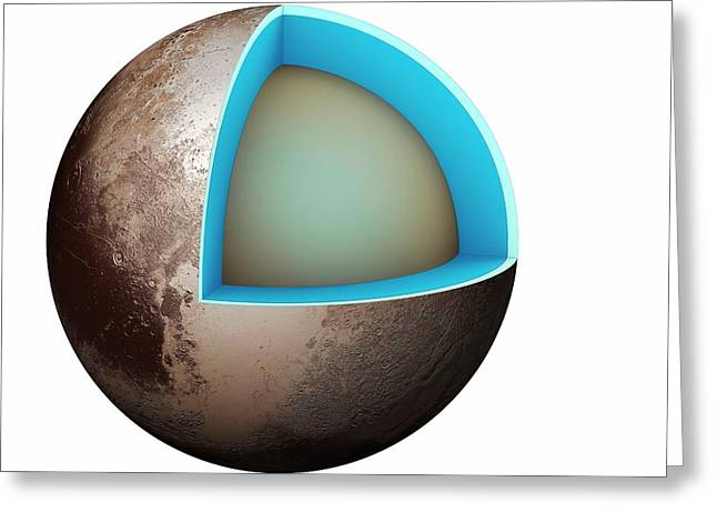 Structure Of Pluto Greeting Card