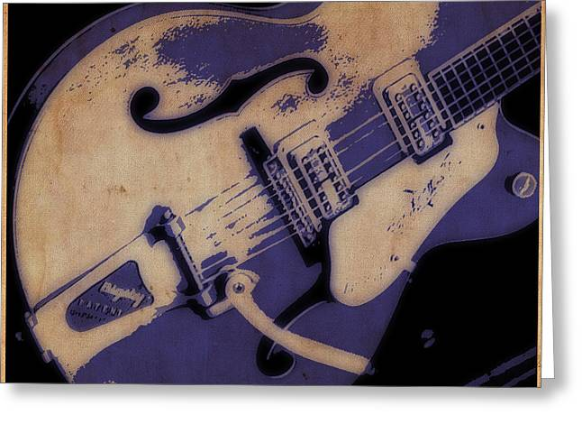 Strum In Blue Greeting Card by Tilly Williams