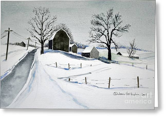 Strutt Road Wayland Ny Greeting Card