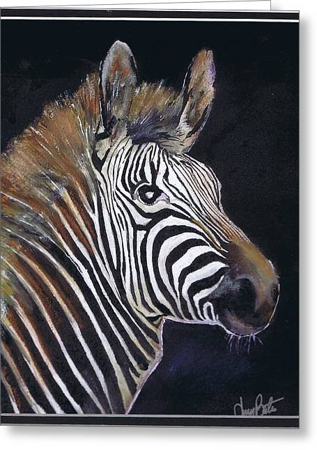 Strutting His Stipes Greeting Card