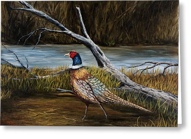 Strutting Pheasant Greeting Card