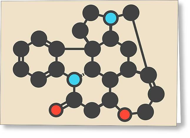 Strychnine Poisonous Alkaloid Molecule Greeting Card by Molekuul