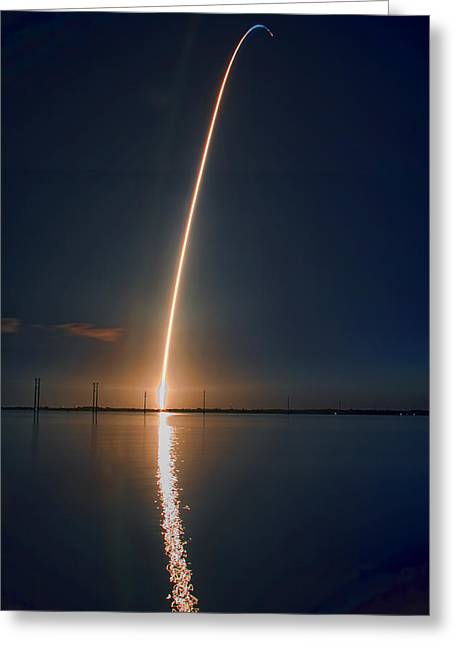 Sts-131 Launch Greeting Card