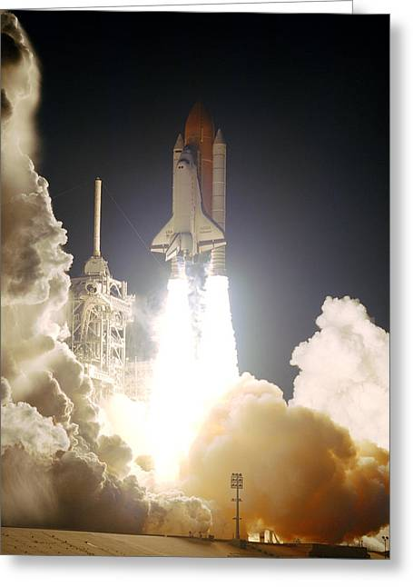 Sts-72, Space Shuttle Endeavor Launch Greeting Card