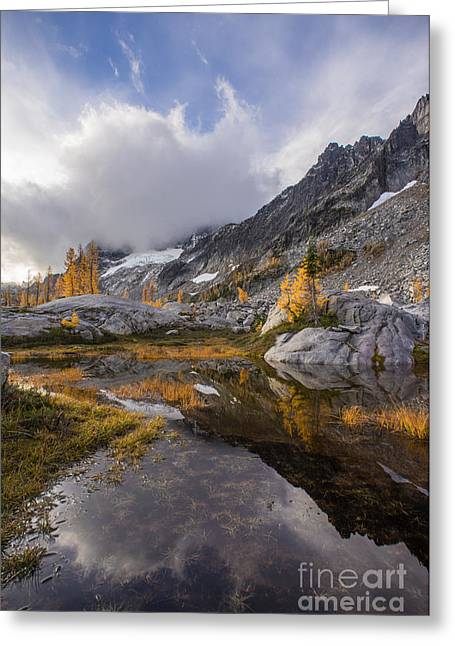 Stuart Range Soaring Fall Skies Greeting Card by Mike Reid