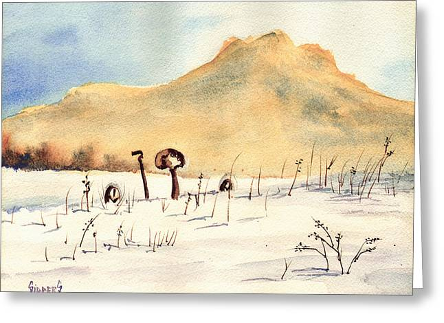 Stuck In The Snow Greeting Card by Sam Sidders
