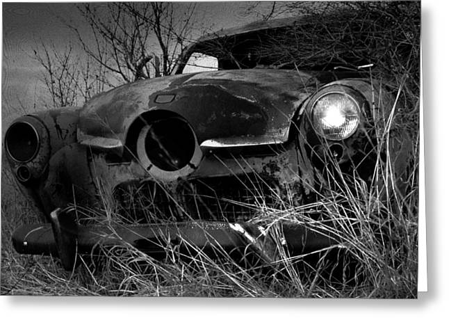 Greeting Card featuring the photograph Studebaker  by Jim Vance