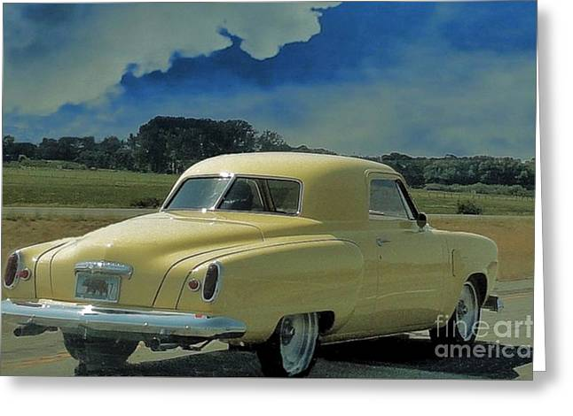 Studebaker Starlight Coupe Greeting Card by Janette Boyd