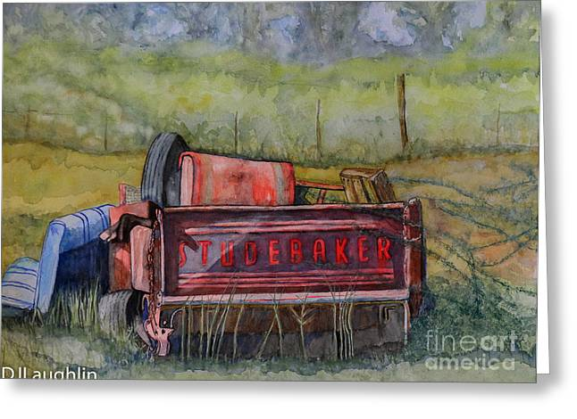 Studebaker Truck Tailgate Greeting Card by DJ Laughlin