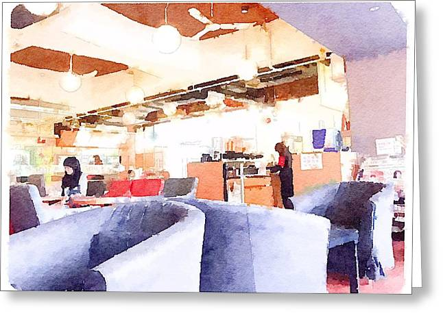 Student Cafeteria In Hong Kong University  2 Greeting Card by Yury Malkov