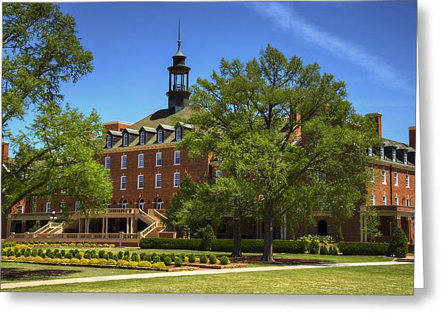 Student Union At Oklahoma State Greeting Card by Ricky Barnard