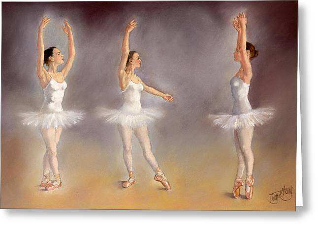 Studies Of A Ballet Dancer Greeting Card by Margaret Merry