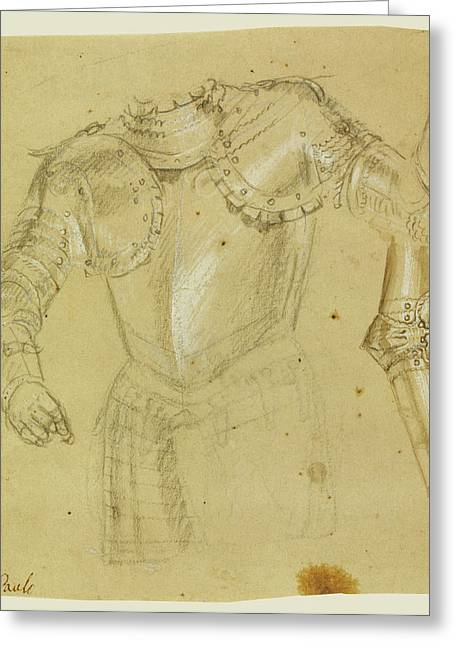 Studies Of Armor Paolo Veronese Paolo Caliari Or Workshop Greeting Card