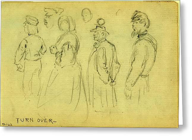 Studies Of Child, Woman, Gentleman, African American Man & Greeting Card by Quint Lox