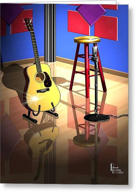 Studio Time Greeting Card by Patrick Belote