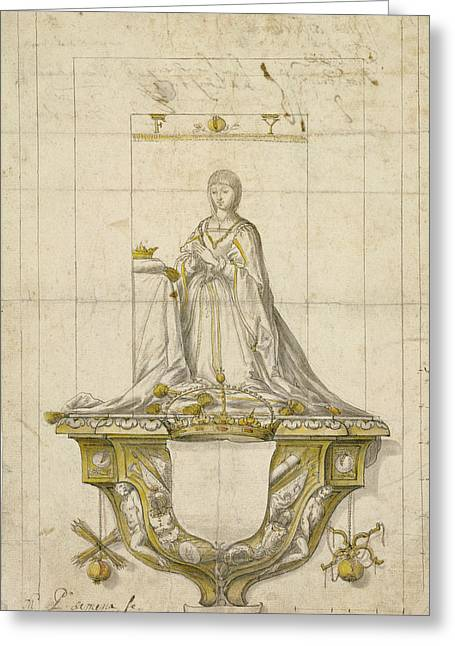 Study For A Statue Of Queen Isabella Pedro Mena Y Medrano Greeting Card by Litz Collection