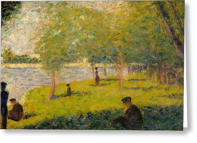 Study For A Sunday On La Grande Jatte Greeting Card by Georges Seurat