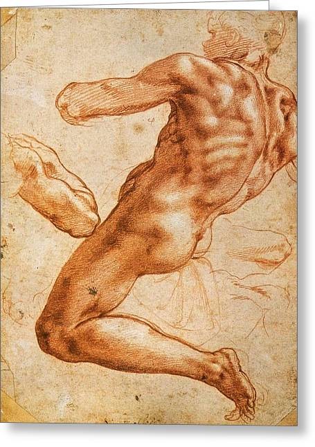 Study For An Ignudo Greeting Card
