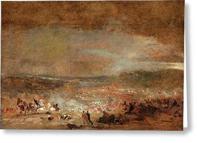 Study For Battle Of Waterloo Study For Battle Of Waterloo Greeting Card by Litz Collection
