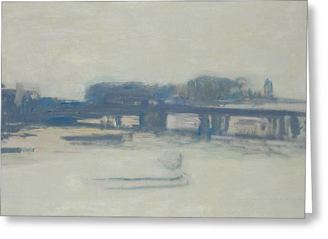 Study For Charing Cross Bridge, 1899-1901 Oil On Canvas Greeting Card