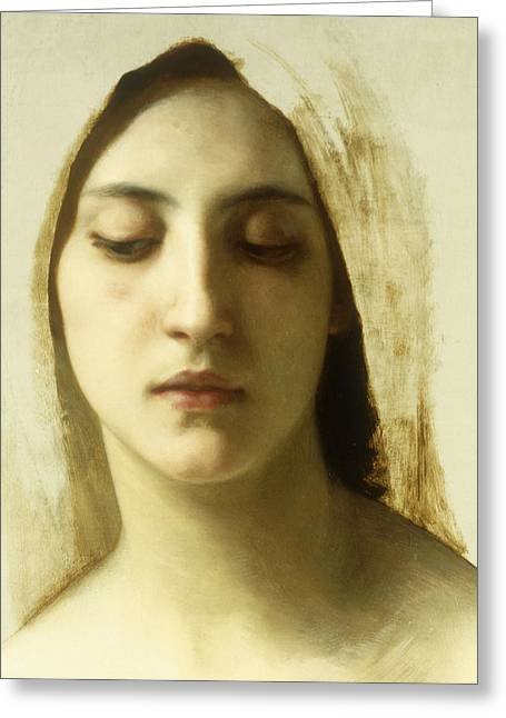 Study For La Charite Greeting Card by William-Adolphe Bouguereau