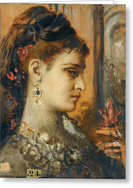 Study For Salome With Beheading Of John The Baptist Greeting Card by Gustave Moreau
