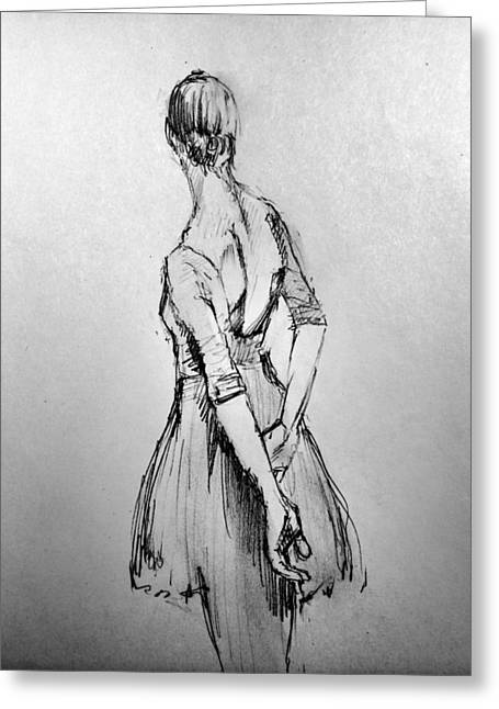 Study Of A Dancer Greeting Card