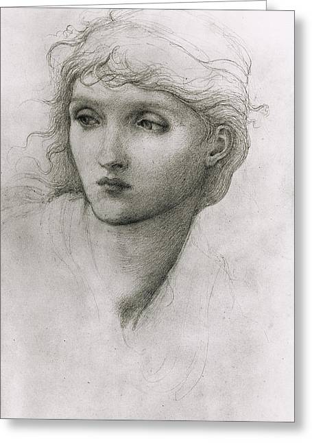 Study Of A Girls Head Greeting Card