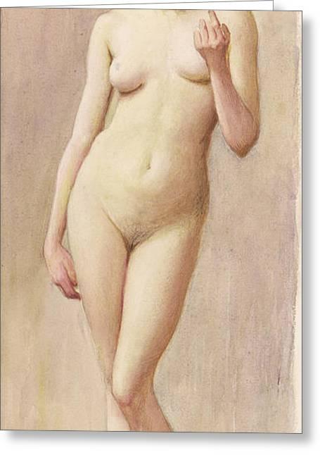 Study Of A Nude II Greeting Card