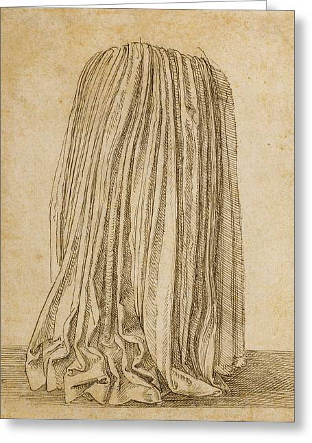 Study Of A Pleated Skirt Hans Brosamer, German Greeting Card by Litz Collection