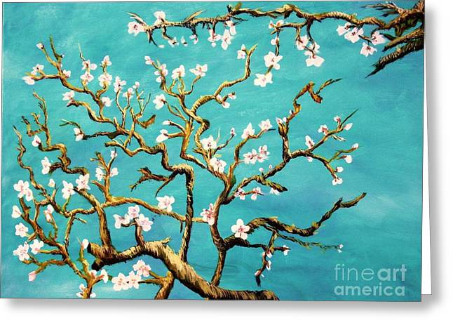 Study Of Almond Branches By Van Gogh Greeting Card