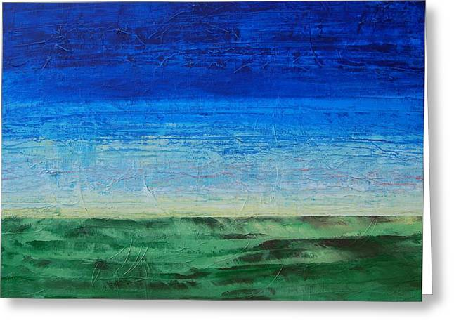 Greeting Card featuring the painting Study Of Earth And Sky by Linda Bailey