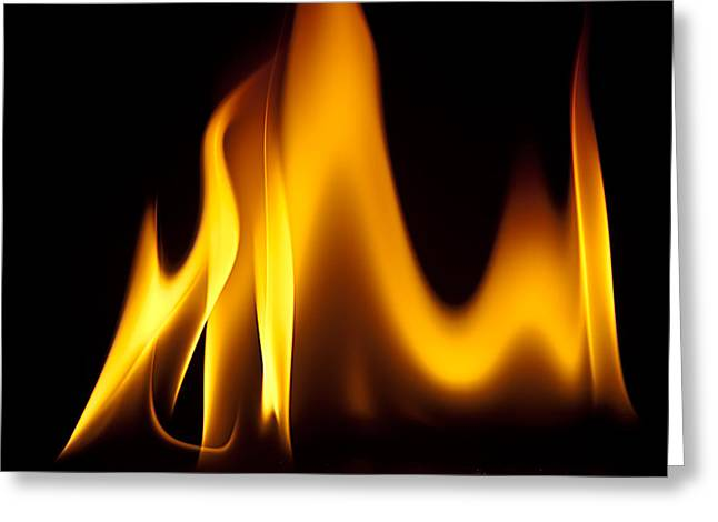 Study Of Flames I Greeting Card