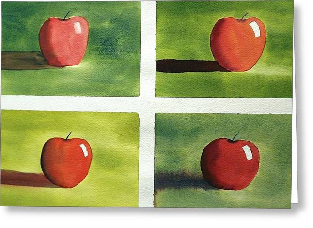 Study Red And Green Greeting Card